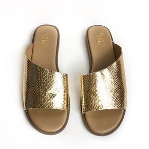 Franco Sarto Snakeskin Slide Sandal Size 10